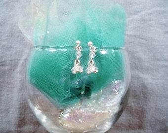 SALE-Crystal Clear Flourish Earrings by Diana