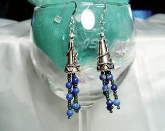 Blue Alert Earrings by Diana