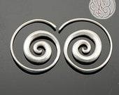 SHIANA Swirling Pure Silver Earrings 105030139