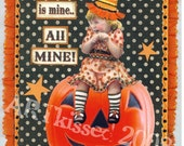 SALE SALE SALE    MMMMmmooh HA HA HA HA Original HALLOWEEN COLLAGE Hanging
