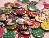 Vintage Libertys fabric button set