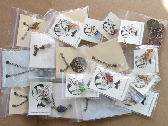 Bulk Jewelry Lot - 20 pcs Necklaces and Earrings Wholesale Lot