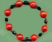 Chinese Red Bracelet and Earrings Set