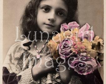 LITTLE GIRLS CD 500 vintage French photos images Victorian Edwardian pictures Paris postcards digital ephemera altered art crafts jewelry