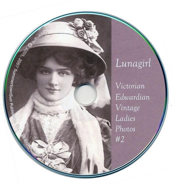LADIES PHOTOS 2 - vintage images on CD Victorian Edwardian 1920s Women Photos Postcards altered art ephemera craft cd