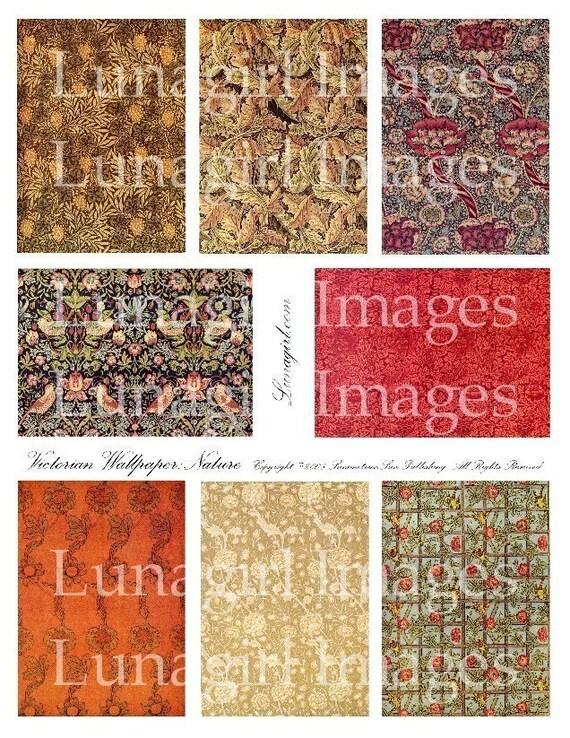 FLORAL ART BACKGROUNDS, digital collage sheet, vintage images, Victorian Art Nouveau Deco altered ephemera nature flowers Download Printable