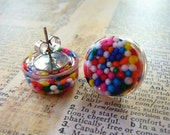 Rainbow Cupcake Sprinkles Earrings