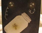 Lightening Bug Love Summer Memories Notecard