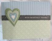 With Heartfelt Thanks Card