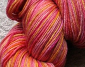 Handpainted merino silk blend sock yarn 40 oz 440 yds sunrise colors pretty