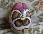Purple Pansy Darning Egg