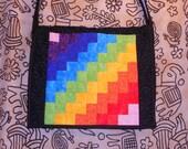 "Bag- ""Rainbow in the sky"" messenger bag/ laptop bag"