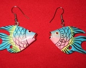 PINK & BLUE PASTEL FISH EARRINGS