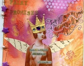 Fairy promises collection( mixed media collage)by Helen deroubaix