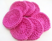Set of Seven Hot Pink Reusable Make-up Remover Pads