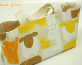 SALE - Animals small carry bag - yellow
