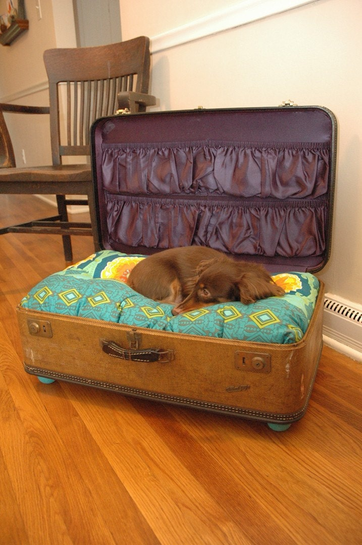custom suitcase dog bed 1