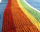 Rainbow on Blue Baby Blanket