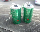 soda pop cans earrings