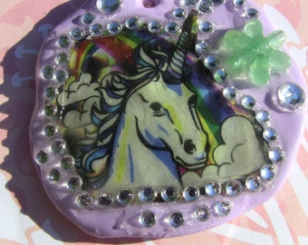 Magical unicorn 80s ornament