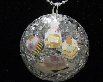 sweet treats resin necklace