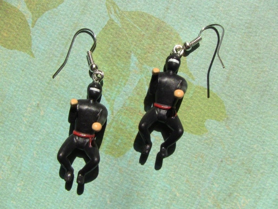 deadly little ninja earrings
