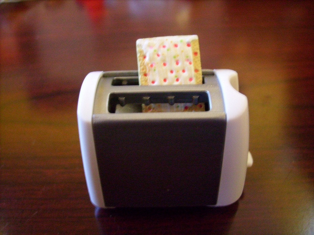 pop tart toaster art pin brooch by HotChickPhysics on Etsy