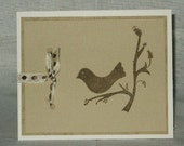 brown bird card