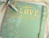 Love and Romance Mini Boardbook Album for Journal - Photos - Scrapbooking premade pages
