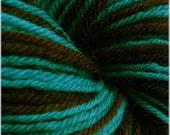 Self striping sock yarn Brurquoise