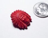 1 Vintage Indian Head Button. Plastic\/ Bakelite