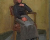 Impressionist Original Portrait From Life, Oil Painting Of The Model