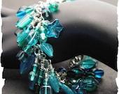 Peacock Blues Dangle Bracelet