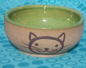 green cat bowl