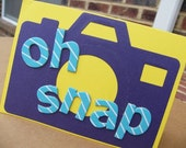 Oh Snap - Camera Recycled File Folder Notecard