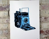 Vintage Camera - Limited Edition Two Color Screen Print - Artwork by Karl Addison