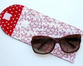 Red n White Stars Sunglass Case by ohsoretro