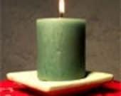 soy pillar candle sandalwood