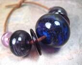 deep purple mix (7) focal with companion glass beads