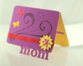 Mother's Day Gift Card Holder - Spring Mom - Handmade, Limited Edition