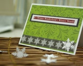 Winter Wonderland Christmas Card or Holiday Season Card - Handmade and One of a Kind (OOAK)