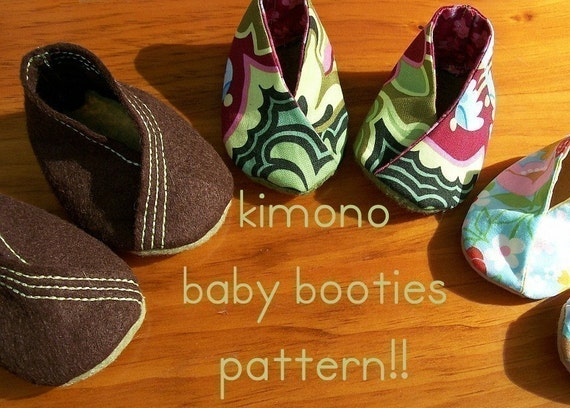 Kimono Baby Booties Sewing Pattern Easy and Fast Great Gift PDF