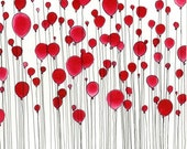 ORIGINAL PAINTING - 99 Red Balloons