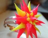 22 adjustable Porcupine Flower Rings