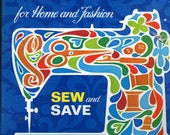 Singer Sewing Series for Home and Fashion Sew and Save 1972 binder