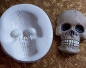 Toothy Skeleton Skull...... polymer clay mold