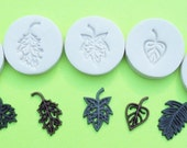 5 Little Leaves polymer clay mold