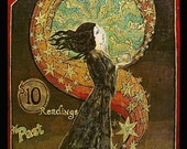 Psychic Fortunes - Art Nouveau Gypsy Circus 5x7 Card