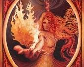 Brigid Imbolc Celtic Goddess of Inspiration Pagan Art Goddess Art 11x14 Print