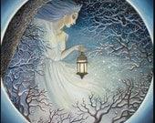 Reserved for Saint Margaret Winter Goddess Solstice Yule Art Original Oil Painting